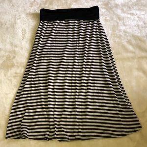 Julie's Closet Maternity Striped Skirt